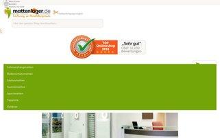 Mattenlager Webseiten Screenshot