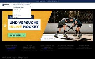 Sportega Webseiten Screenshot