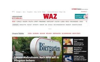 WAZ Webseiten Screenshot