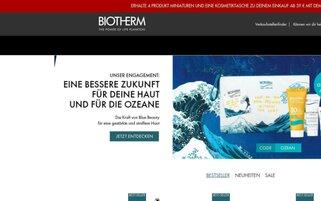 Biotherm Webseiten Screenshot
