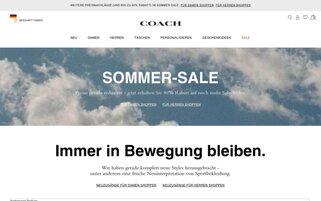 COACH Webseiten Screenshot