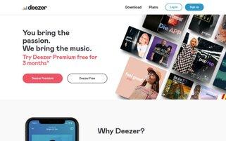 Deezer Webseiten Screenshot