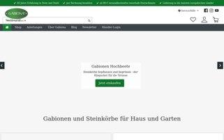 GABIONA Webseiten Screenshot