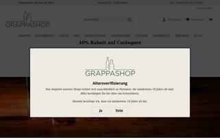 Grappashop Webseiten Screenshot