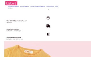 Kleberli Webseiten Screenshot