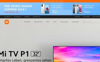Xiaomi Webseiten Screenshot