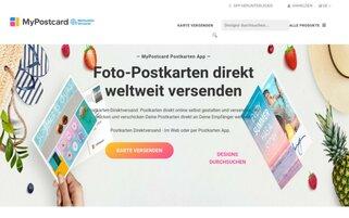 MyPostcard Webseiten Screenshot