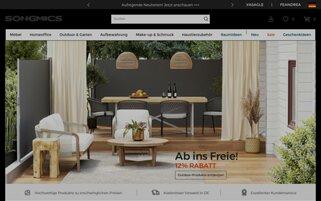 Songmics Webseiten Screenshot