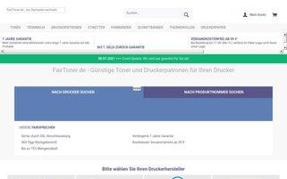 FairToner Webseiten Screenshot