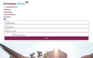 Eurowings Holidays Webseiten Screenshot