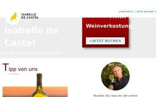 Isabelle de Castel Webseiten Screenshot