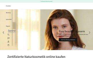 lavera Webseiten Screenshot