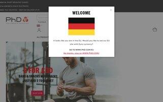 PhD Nutrition Webseiten Screenshot