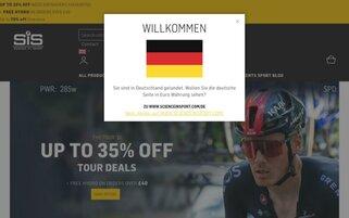 Science in Sport Webseiten Screenshot