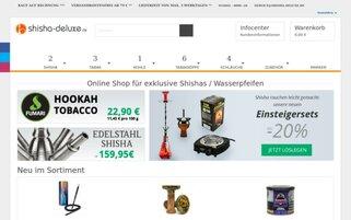 shisha-deluxe Webseiten Screenshot