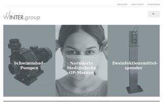 Winter Group Shop Webseiten Screenshot