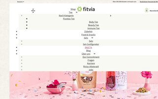 fitvia Webseiten Screenshot