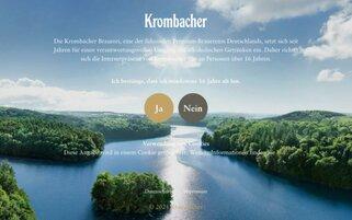Krombacher Webseiten Screenshot