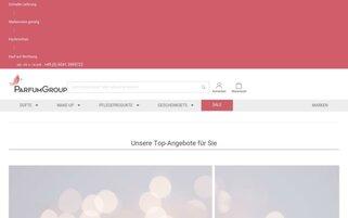 ParfumGroup Webseiten Screenshot
