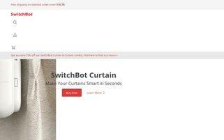 SwitchBot Webseiten Screenshot